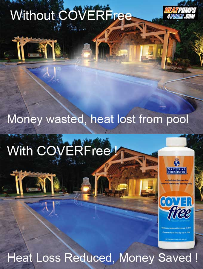 coverfree liquid pool cover from heatpumps4pools